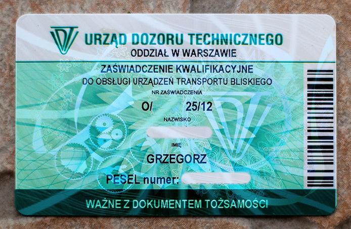 Chwalebne Kurs HDS dla operatorów-uprawnienia UDT, Warszawa - Ośrodek QD11